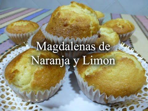 MAGDALENAS CON NARANJA Y LIMÓN (RECETA FÁCIL)