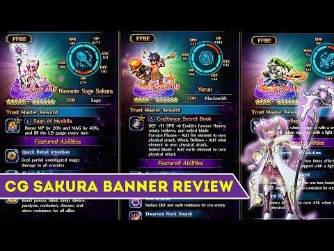 [FFBE] Final Fantasy Brave Exvius - CG Sakura Banner Review