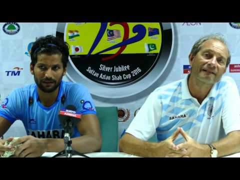 India press conference post match win over Pakistan 5-1. Sultan Azlan Shah cup hockey.