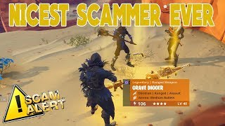THE NICEST SCAMMER EVER SCAMMED HIMSELF (Scammer Gets Scammed) Fortnite Save The World
