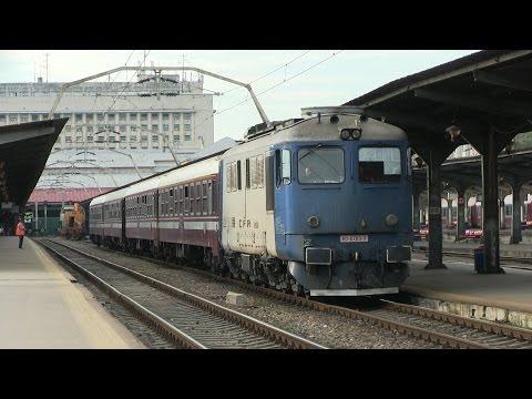 Тепловозы и электровоз на ст. Бухарешть-Норд / Diesel and electric locomotives at Bucharest-Nord