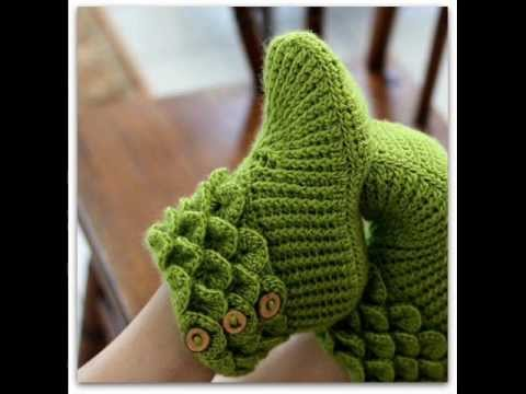 Crochet Patterns In Youtube : ... Stitch Boots Adult Sizes Crochet Pattern Presentation - YouTube