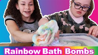 Rainbow Cloud Birthday Bath Bombs!! (Sarah Grace & Olivia Haschak)