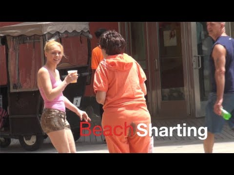 Beach Sharting Prank