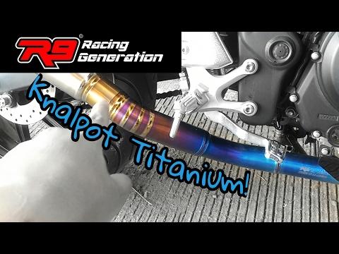 Cara Membirukan Knalpot Titanium! Knalpot R9 H2 di Yamaha MT25