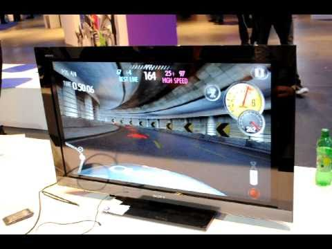 Nokia N8 3D game played on HDTV