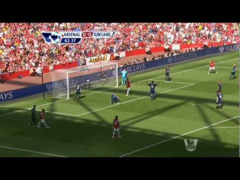 Arsenal vs Sunderland 0-0 2012 highlights (Real Deal, not fake)