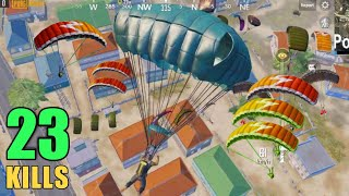 YOU CAN'T BELIEVE THIS LANDING | 23 KILLS SOLO VS SQUAD | PUBG MOBILE