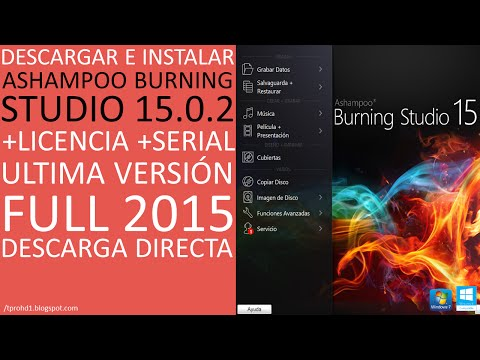 Ashampoo Burning Studio 15│+Licencia/Serial│Descargar e Instalar Full 2015│HD
