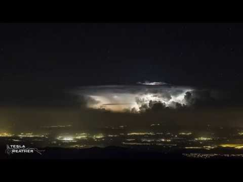 Timelapse de una tormenta cercana a Barcelona