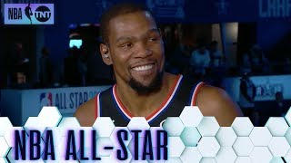 Kevin Durant Joins the Desk Following His MVP Performance | All-Star 2019
