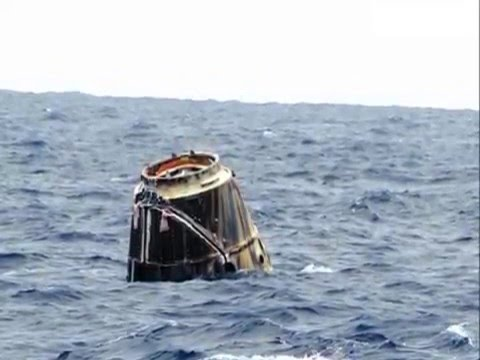 SpaceX's Dragon / cargo ship splashes down in Pacific