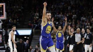 Stephen Curry Full Court 3! Durant Returns vs Spurs! 2018-19 NBA Season