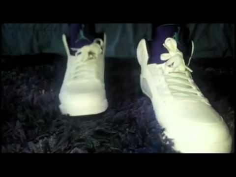 jordan retro 5 grapes on feet review