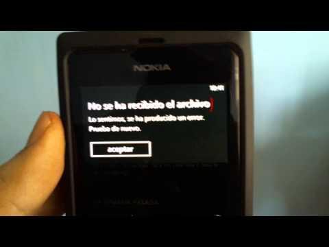 como recibir archivos por bluetooh en nokia lumia 505 español latino mejor explicado
