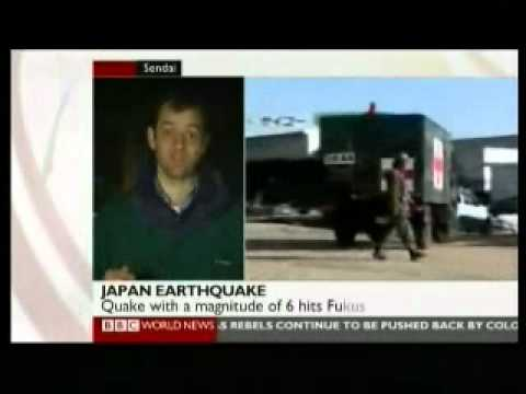 Japan 2011 Earthquake 10 - Aftermath Day 1 - BBC News Reports 12.03.2011