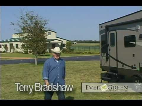 2011 EverGreen RV 5th Wheel and Travel Trailers featuring Terry Bradshaw