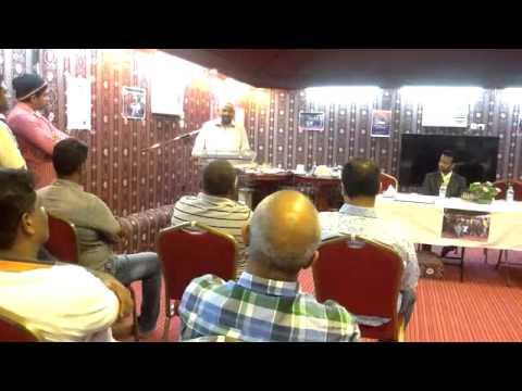 Azath Salley addressing a gathering in Saudi Arabia