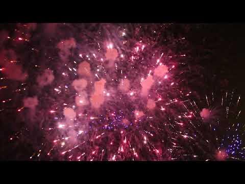 Празднование Дня города завершилось в Луганске грандиозным десятиминутным фейерверком