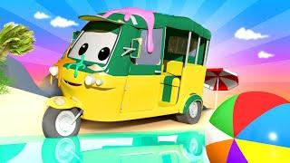 Tiệm rửa xe cho trẻ em - Xe Tuk Tuk Tao 2 - Thành phố xe 💧 những bộ phim hoạt hình về
