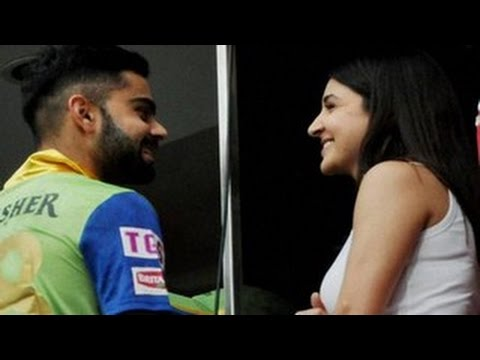 Virat Kohli & Anushka Sharma's ROMANTIC MOMENTS during IPL 8