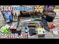 My $100 Walmart Survival Kit - 7 Day Survival Challenge - The Build