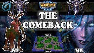 Grubby   Warcraft 3 TFT   1.30   NE v NE on Echo Isles - The Comeback
