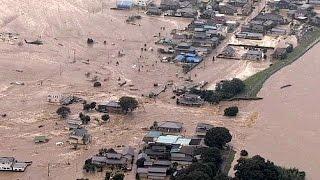 Überschwemmungen nach starkem Regen in Japan