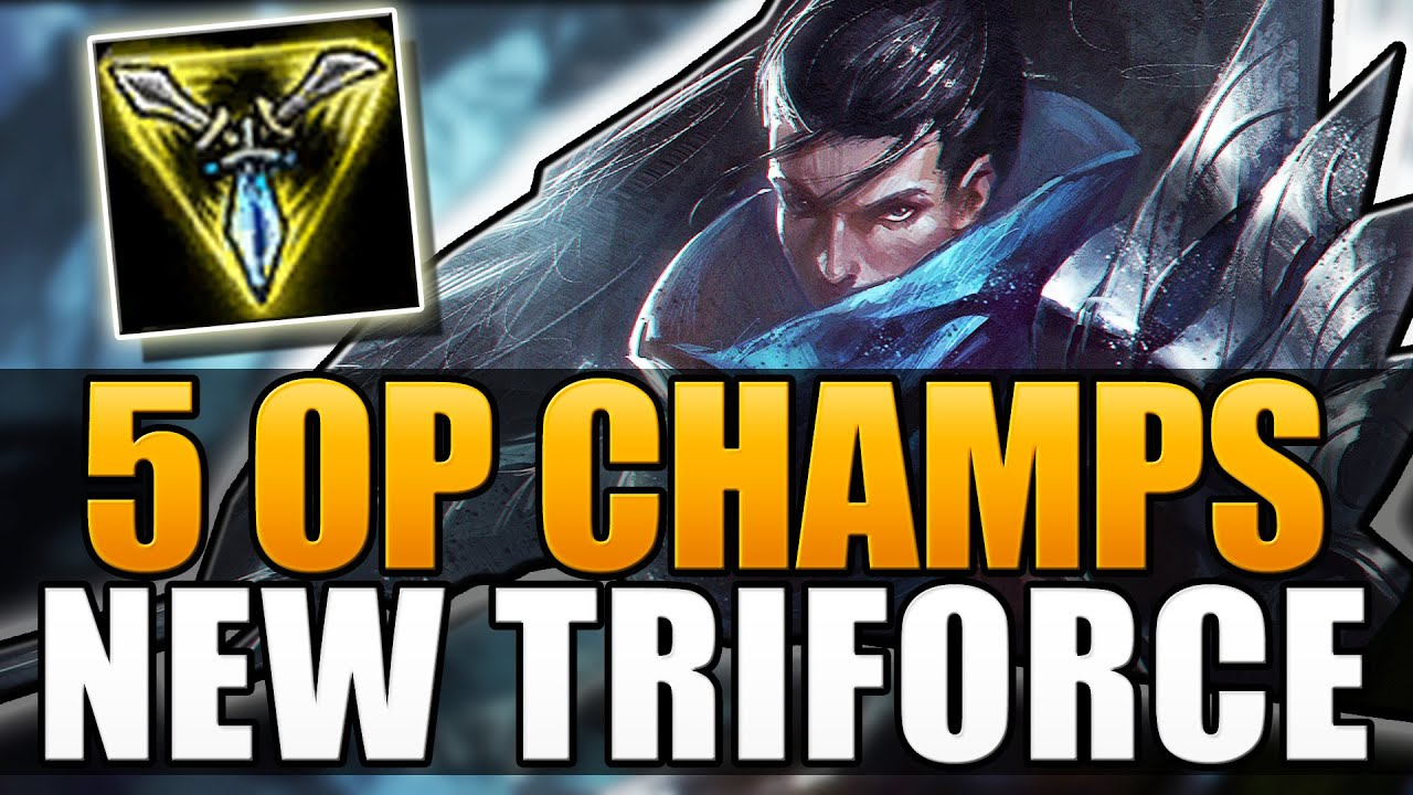 5 OP CHAMPIONS WITH NEW TRINITY FORCE - League of Legends