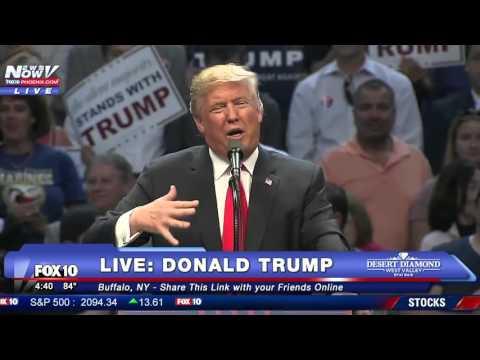 Donald Trump FULL Buffalo New York Rally - Rex Ryan Intro - FNN