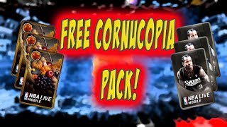 FREE CORNUCOPIA PACK OPENING! MORE LEGENDARY PACKS! NBA LIVE MOBILE!