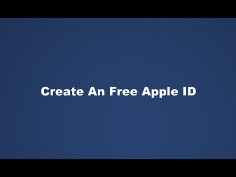 Create An Free Apple ID In iTunes Without A Credit Card