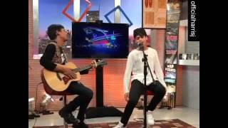 Harris J singing I Promise Live on Happy Hour Indonesia 👌🏼💖