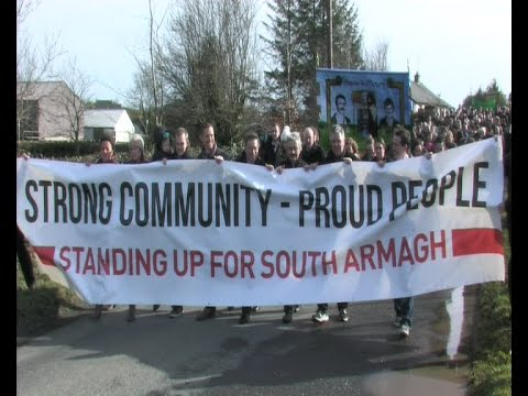 Thousands stand against South Armagh criminal gang