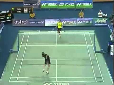 malaysia open grand prix gold 2011 Quater Final Saina Nehwal vs Lin Wang Malaysia Open Grand Prix Gold 20111