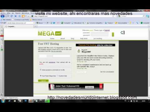 Alojar y Compartir Archivos swf (flash) con MEGA SWF.mp4