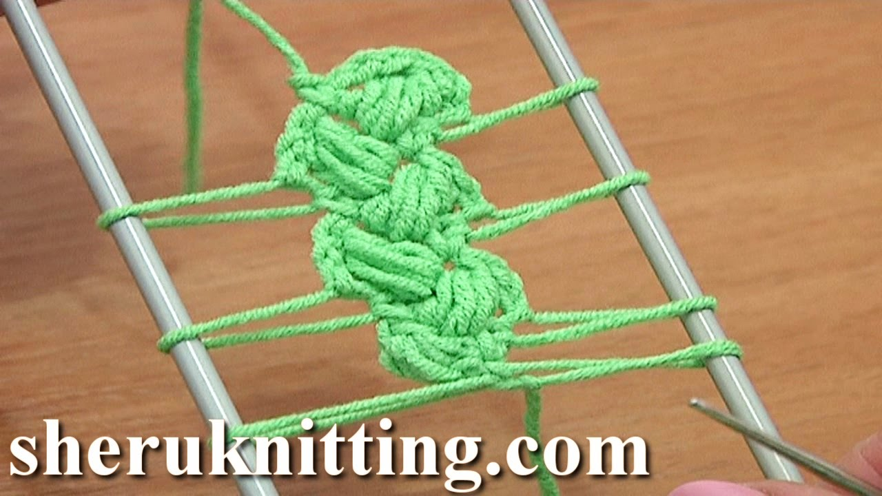 Crochet Stitch On Loom : Crochet Braid On Hairpin Loom How to Tutorial 10 Crochet Puff Stitches ...