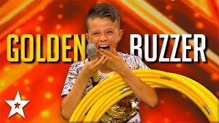 Holler Hoop REALNESS! Kid gets GOLDEN BUZZER on Croatia's Got Talent | Got Talent Global