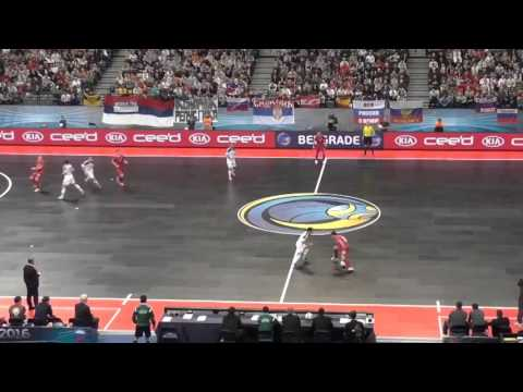 Сербия - Россия. ЕВРО-2016 по мини-футболу в Белграде