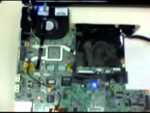 How to test a laptop motherboard outside of the machine