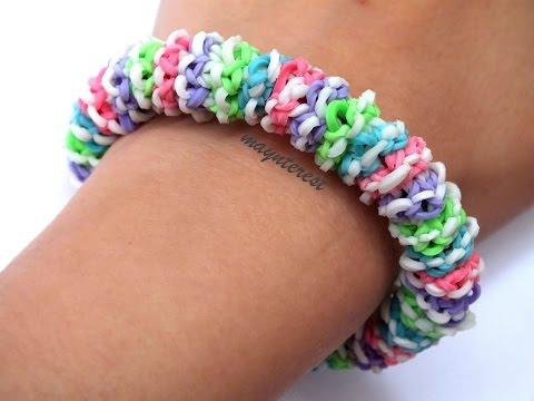 Pulsera de gomitas Gominolas (SIN TELAR-CON TENEDORES)   Gumdrop bracelet (NO LOOM)