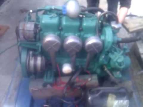 Volvo Penta MD17c 36hp Marine Diesel Engine - YouTube