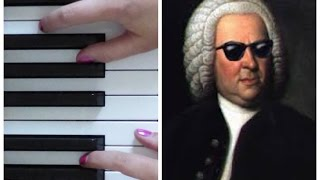Bach Toccata in D Minor (ARRANGEMENT)   EASY PIANO TUTORIAL