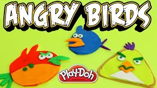 Play Doh How to make Angry Birds with playdough by Unboxingsurpriseegg