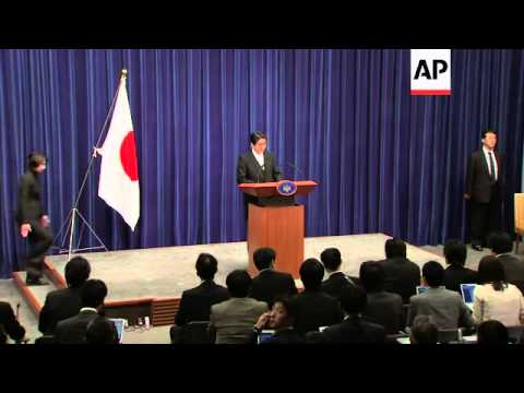 Abe on relations with China and US, and Fukushima disaster; cabinet photo op