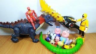 Đồ chơi siêu nhân thần kiếm bắt con rắn xanh giải cứu heo peppa pig