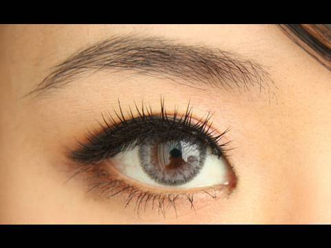 Adore Bi Tone Grey Colored Contact Lens Review Youtube