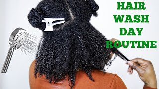 Full Natural Hair Wash Day Routine | 4A 4B 4C Hair | JumieAnne