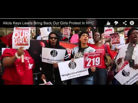 Alicia Keys Leads Bring Back Our Girls Street Protest In NYC