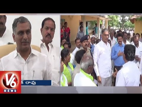 Minister Harish Rao Speaks On CM KCR Gajwel Harita Haram Program | V6 News